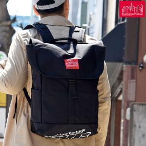 マンハッタンポーテージ Manhattan Portage NYCプリント ワシントンスクエアバックパック ブラック/レッド Washington SQ Backpack|ripe
