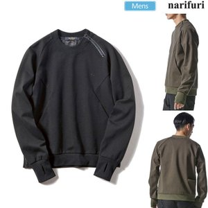 ナリフリ narifuri スウェット Durable N/Cポンチプルオーバー 全2色  NF1064|ripe