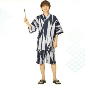 男性用甚平イトーヨーカドー×AAA 西島隆弘モデルネイビー色S〜LLサイズ
