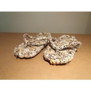 わら草履 / わらじ ワラジ 草鞋 藁草履 わらぞうり わらサンダル スリッパ サイズ:約23cm 手作り品の為、サイズはおおよそとなります。|rippa-koppa