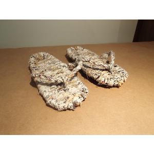 わら草履 / わらじ ワラジ 草鞋 藁草履 わらぞうり わらサンダル スリッパ サイズ:約23cm 手作り品の為、サイズはおおよそとなります。|rippa-koppa|02