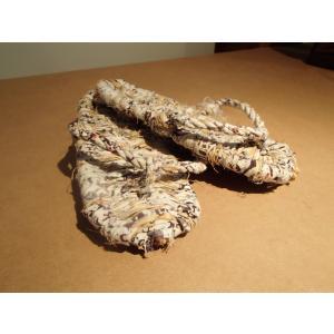 わら草履 / わらじ ワラジ 草鞋 藁草履 わらぞうり わらサンダル スリッパ サイズ:約23cm 手作り品の為、サイズはおおよそとなります。|rippa-koppa|03