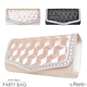 パーティーバッグ 結婚式 バッグ 大きめ パーティバッグ ショルダー クラッチバッグ クラッチ パーティーバック パーティバック パーティ ビジュー サテン|rippleplus-shop