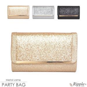 パーティーバッグ 結婚式 クラッチ 大きめ バッグ パーティバッグ クラッチバッグ レディース ラメ 2Way 安い|rippleplus-shop