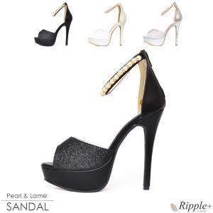 パンプス キャバ サンダル 靴 13cmヒール オープントゥ キャバクラ ハイヒール 厚底 パーティー|rippleplus-shop
