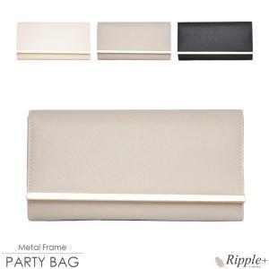 パーティーバッグ 結婚式 クラッチ  2Way 大きめ レディース レザー 合皮|rippleplus-shop