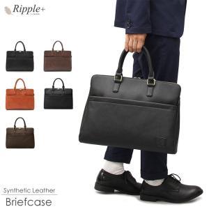 ビジネスバッグ ブリーフケース バッグ メンズ レディース 通勤 通勤バッグ トートバッグ 大容量 大きめ A4 バック レザー 合皮 おしゃれ シンプル 鞄 カバン|rippleplus-shop