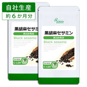黒胡麻セサミン 約3か月分×2袋 C-129-2 サプリメント 健康 送料無料