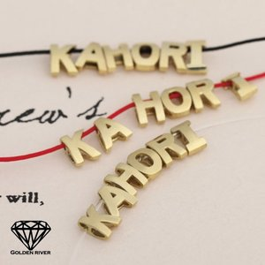 K14 イニシャルネックレス ネームネックレス 名前 カラーチェーン 14金ゴールド|risacrystal