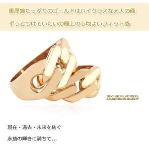 ハイクラスディテール ペアリング 14金イエローゴールド K14ゴールドリング 指輪|risacrystal