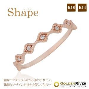 K14 スレンダーリング レイヤード 極細リング 14金 指輪 レディース|risacrystal
