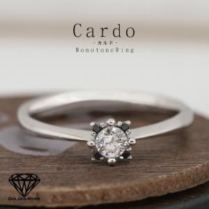 Cardo-カルド- K14 ダイヤモンドリング エンゲージリング ブライダルリング 14金 指輪 レディース|risacrystal