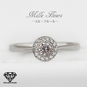 ダイヤモンドリング 天然ダイヤモンド ブライダルリング 指輪 K18ゴールド|risacrystal