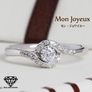 ダイヤモンドリング 天然ダイヤモンド K18ホワイトゴールド ブライダルリング 婚約指輪|risacrystal