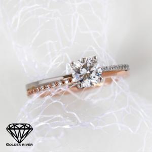 Jumeaux-ジュモ- 0.3ctUP ダイヤモンドリング エンゲージリング ブライダルリング K14 14金 リング 指輪|risacrystal