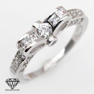ロマンチック リボン リング シルバー925|risacrystal