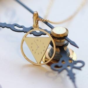 メモリアルクロック ネックレス レディス 時計 ネックレス ゴールドネックレス 赤ちゃん誕生の時間  K18 18金|risacrystal