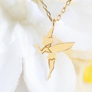 ティンカーベル 羽モチーフ 幻の妖精 ネックレス 14金 K14ゴールド|risacrystal