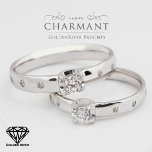 ダイヤモンド リング ペアリング ブライダル プロポーズリング K14ホワイトゴールド 結婚指輪|risacrystal