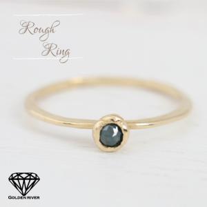 ラフダイヤモンド リング 一粒ダイヤモンド K18 18金ゴールドリング risacrystal