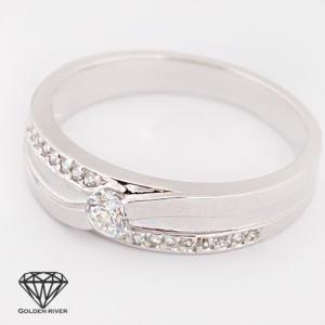 K18 ホワイトゴールド リング 18金ペアリング 結婚指輪 マリッジリング|risacrystal