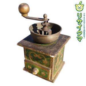 【中古】M▽コーヒーミル グラインダー 珈琲 豆 手動 ハンドル 手挽き (15952)