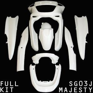 ヤマハ MAJESTY マジェスティ/C SG03J ホワイト塗装済 アッパー カウル フルセット カウル 外装 ボディ フロント リア サイド 【クーポン配布中】|rise-corporation-jp