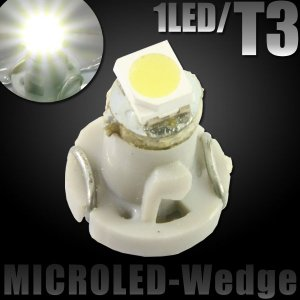 T3 SMD/LEDバルブ 1LED ホワイト メーター球【クーポン配布中】 rise-corporation-jp