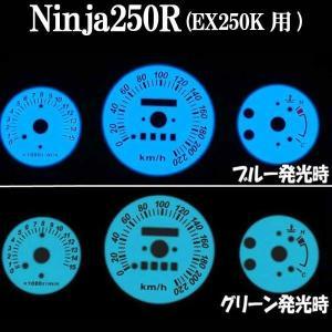 ニンジャ250R NINJA250R EX250K ホワイト ELメーター パネル 発光色ブルーorグリーン【クーポン配布中】|rise-corporation-jp