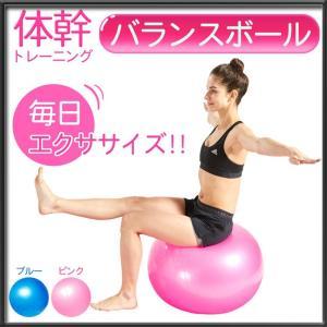 バランスボール 65cm ダイエット 器具 ヨガボール フィットネス グッズ 空気入れ付 体幹 自宅 トレーニング 健康 ストレッチ 子供 男性 女性 座るだけ|rise-one