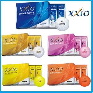 ☆DUNLOP XXIO ダンロップ ゼクシオ SUPER SOFT X ゴルフボール 1ダース(12個入り)|rise-store