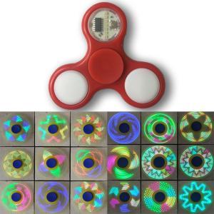 ハンドスピナー 光る LED 18パターン 回転 ストレス解...