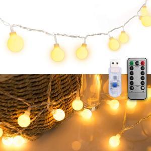 LEDストリングライト ガーランド 電飾 フェアリーライト 装飾ライト クリスマスツリー ライト 防...