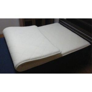 国産ハイグレード低反発マットレス厚めの50mm コンパクトな80cm幅SSS(ショート・セミシングル)サイズ ベッドの上に敷けるサポートマットレス|rising-bed