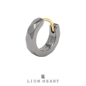 ライオンハート for Gift カッティングフープピアス/シルバー925 (ブラック) 01EA0991BK LION HEART シルバーピアス 1点売り 片耳用 [LH] 誕生日 ギフト メンズ|rismtown-y