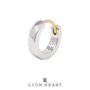 ライオンハート for Gift カッティングフープピアス/シルバー925 (シルバー) 01EA0991SV LION HEART シルバーピアス 1点売り 片耳用 [LH] 誕生日 ギフト メンズ|rismtown-y