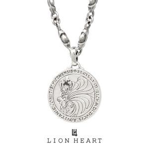 ライオンハート HOWL ハウルコインネックレス/ファングチェーン 01NE0531BK LION HEART シルバー ネックレス [LH]|rismtown-y