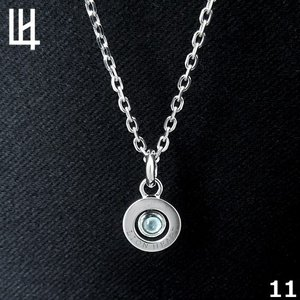 LION HEART PASSAGE OF TIME - Birth Color Stone 11月 Color of Blue Topaz (ターコイズブルー) シルバーネックレス 01NE075111   [LH]|rismtown-y