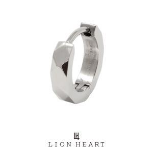 ライオンハート LH-1 WEB限定 カッティング フープピアス シルバー 03EA0015SV LION HEART ステンレス ピアス 1点売り 片耳用 メンズ [LH]|rismtown-y