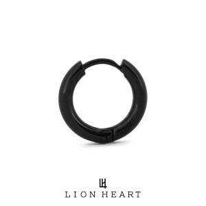 ライオンハート LH-1 Monotone プレーンフープピアス ブラック 03EA0055B LION HEART ステンレスピアス 1点売り 片耳用 メンズ [LH]|rismtown-y