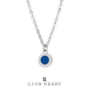 ライオンハート LH-1 ステンレス サークルコインネックレス (ブルー) 04N126SMBL LION HEART ネックレス メンズ ブランド ギフト(誕生日 プレゼント)|rismtown-y