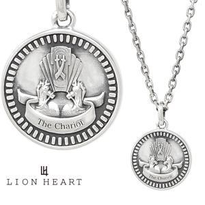 ライオンハート クラシックネックレス/THE CHARIOT/シルバー925 1NE209A0CH LION HEART Intent コイン タロットカード チャリオット/戦車 プレゼント メンズ|rismtown-y