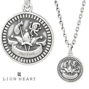 ライオンハート クラシックネックレス/THE FOOL/シルバー925 1NE209B0FO LION HEART Intent コイン タロットカード フール/愚者  プレゼント メンズ|rismtown-y