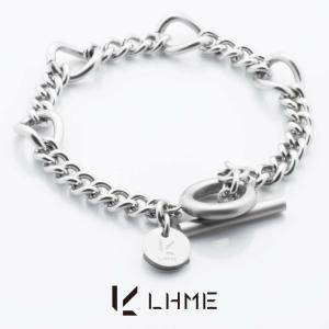LHME リンクチェーンブレスレット/TYPE K/サージカルステンレス [エルエイチエムイー] 2BR001K (手首周り16cm)Tバー&マンテル rismtown-y