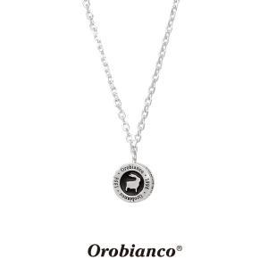 オロビアンコ ネックレス OREN018BK (シルバー×ブラック) シルバー925 チェーン40+5cm Orobianco Necklace ブランド メンズ レディース プレゼント 送料無料|rismtown-y