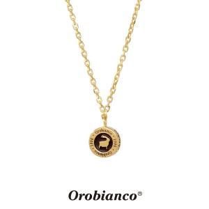 オロビアンコ ネックレス OREN018BKG (ゴールド×ブラック) シルバー925 チェーン40+5cm Orobianco Necklace ブランド メンズ レディース プレゼント 送料無料|rismtown-y