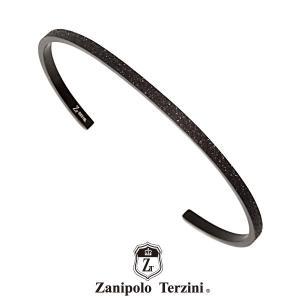 Zanipolo Terzini ステンレスバングル ブラック サンドブラスト ZTB3600BK ザニポロタルツィーニ ステンレス [ZT]|rismtown-y