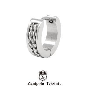 ザニポロタルツィーニ フープピアス ステンレス ZTE3618SUS (カラー:シルバー) Zanipolo Terzini メンズ 金属アレルギー対応 1点売り 片耳用 [ZT]|rismtown-y