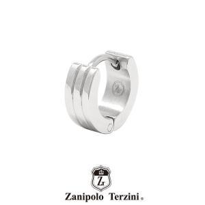 ザニポロタルツィーニ フープピアス ステンレス ZTE3622SUS (カラー:シルバー) Zanipolo Terzini メンズ 金属アレルギー対応 1点売り 片耳用 [ZT]|rismtown-y