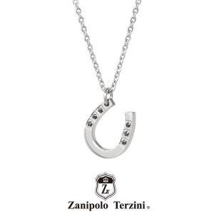 ザニポロタルツィーニ 馬蹄ネックレス サージカルステンレス ZTP2429 MA/SUS (シルバー)  Zanipolo Terzini ホースシュー 誕生日 プレゼント 送料無料 メンズ|rismtown-y